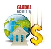 konceptualnej kryzysu gospodarki globalny wizerunku spekulaci świat Obraz Royalty Free