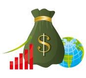 konceptualnej kryzysu gospodarki globalny wizerunku spekulaci świat Zdjęcia Royalty Free
