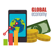 konceptualnej kryzysu gospodarki globalny wizerunku spekulaci świat Fotografia Stock