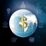 konceptualnej kryzysu gospodarki globalny wizerunku spekulaci świat Zdjęcie Royalty Free
