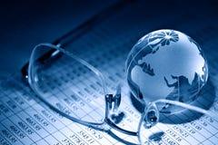 konceptualnej kryzysu gospodarki globalny wizerunku spekulaci świat Zdjęcie Stock
