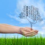Konceptualni środki lub biznesowa drzewna słowo chmura Obraz Royalty Free