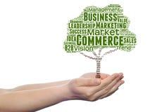 Konceptualni środki lub biznesowa drzewna słowo chmura Obraz Stock
