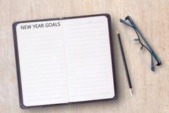 Konceptualny biznes notatnik, laptop z nowym rokiem iść Zdjęcia Stock