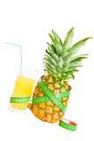 konceptualny diety wizerunku ananas Fotografia Stock