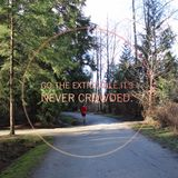 Konceptualny krajobraz z jogger i kolorowym tekstem obraz stock
