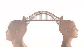 Konceptualny most nad wodą Obrazy Royalty Free
