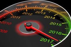 Konceptualny 2017 nowy rok szybkościomierz świadczenia 3 d royalty ilustracja
