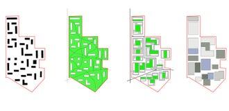 Konceptualny plan, miasto mapa obraz royalty free