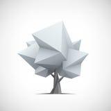 Konceptualny poligonalny drzewo Abstrakcjonistyczny wektor Zdjęcia Royalty Free