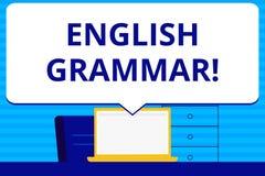 Konceptualny ręki writing pokazuje Angielską gramatykę Biznesowego fotografia teksta wiedzy edukacji szkolnej Językowa literatura ilustracja wektor