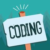 Konceptualny ręki writing pokazuje cyfrowanie Biznesowa fotografia pokazuje wyznaczający kod coś dla gatunkowania ilustracja wektor