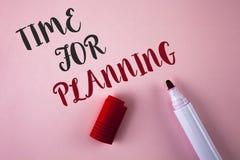 Konceptualny ręki writing pokazuje czas Dla Planować Biznesowa fotografia pokazuje początek projekt Robi decyzjom Organizuje sche Zdjęcia Royalty Free