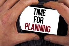 Konceptualny ręki writing pokazuje czas Dla Planować Biznesowa fotografia pokazuje początek projekt Robi decyzjom Organizuje sche Zdjęcie Stock