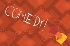 Konceptualny ręki writing pokazuje komedię Biznesowego fotografia teksta Fachowa rozrywka Żartuje nakreślenia Robi widowni ilustracji