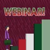 Konceptualny ręki writing pokazuje Webinar Biznesowego fotografia teksta dystansowego uczenie sieci elearning Internetowy mężczyz ilustracji
