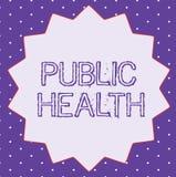 Konceptualny ręki writing pokazuje zdrowie publiczne Biznesowy fotografia tekst Promuje zdrowych style życia społeczność i swój ilustracji