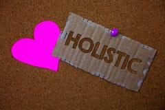 Konceptualny ręki writing pokazywać Holistyczny Biznesowa fotografia teksta wiara części coś jest łącząca Powiązana holism b obraz royalty free