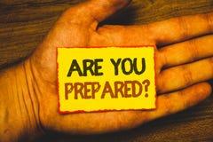 Konceptualny ręki writing seans Jest Tobą Przygotowywający pytanie Biznesowa fotografia pokazuje Przygotowywającą przygotowanie g zdjęcia stock