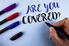 Konceptualny ręki writing seans Jest Tobą Zakrywał pytanie Biznesowy fotografia teksta ubezpieczenia zdrowotnego sprawozdania usu Obraz Stock