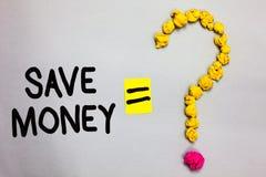 Konceptualny ręki writing seans Save pieniądze Biznesowa fotografia pokazuje sklep używać one sometime lat niektóre twój gotówka  obrazy stock