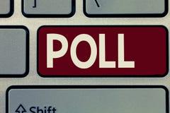 Konceptualny ręki writing seansu wybory Biznesowa fotografia pokazuje rejestr liczba głosowanie obsada w wybory zdjęcia royalty free