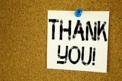 Konceptualny ręki writing teksta podpisu inspiraci seans Dziękuje Ciebie Biznesowy pojęcie dla Dawać wdzięczności Docenia wiadomo Fotografia Stock