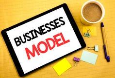 Konceptualny ręki writing teksta podpisu seansu biznesów model Biznesowy pojęcie dla projekta Dla biznesu Pisać na pastylka lapto Fotografia Royalty Free