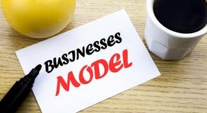Konceptualny ręki writing teksta seansu biznesów model Biznesowy pojęcie dla projekta Dla biznes pisać kleistej notatki pustego p Zdjęcie Stock