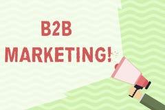 Konceptualny r?ki writing pokazuje B2B marketing Biznesowa fotografia pokazuje marketing produkty biznesy lub inny ilustracja wektor
