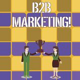 Konceptualny r?ki writing pokazuje B2B marketing Biznesowy fotografia teksta marketing produkty biznesy lub inny ilustracji