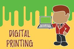 Konceptualny r?ki writing pokazuje Cyfrowego druk Biznesowa fotografia pokazuje cyfrowych zasadzonych wizerunki bezpośrednio rozm ilustracji