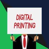 Konceptualny r?ki writing pokazuje Cyfrowego druk Biznesowa fotografia pokazuje cyfrowych zasadzonych wizerunki bezpośrednio rozm ilustracja wektor