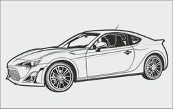 Konceptualny samochód royalty ilustracja