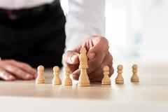 Konceptualny wizerunek przywódctwo i zatrudnienie zdjęcie stock