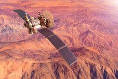 Konceptualny wizerunek statek kosmiczny bada Mars royalty ilustracja