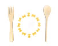 konceptualny zabawy wizerunku posiłku makaron Fotografia Stock