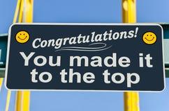 Konceptualny znak o osiągnięciu i sukcesie Obraz Royalty Free