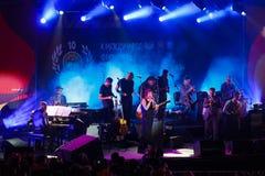 Koncert francuski piosenkarz Zaz na festiwalu jazzowym Obraz Stock