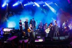 Koncert francuski piosenkarz Zaz na festiwalu jazzowym Zdjęcie Royalty Free