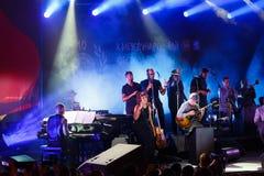 Koncert francuski piosenkarz Zaz na festiwalu jazzowym Zdjęcia Royalty Free