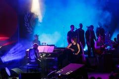 Koncert francuski piosenkarz Zaz na festiwalu jazzowym Obrazy Stock