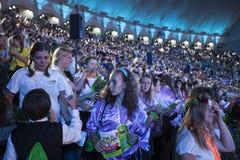 Koncert Latvian młodości piosenka tana świętowanie i Obraz Royalty Free