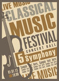 Koncert muzyka klasyczna Fotografia Stock