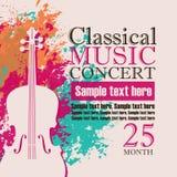 Koncert muzyka klasyczna ilustracja wektor