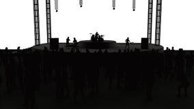 Koncert, muzyka na żywo, zespół, występy i festiwale, Wycieczka turysyczna i zespół Widzowie zabawa, muzyka i taniec, Dyskoteka,  ilustracja wektor