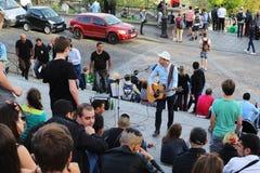 Koncert na schody Sacre Coeur Fotografia Stock