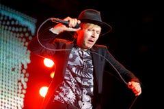 Koncert przy Dcode festiwalem Beck legendarny Amerykański muzyk, piosenkarz, kompozytor i instrumentalista (,) zdjęcie stock