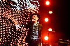 Koncert przy Dcode festiwalem Beck legendarny Amerykański muzyk, piosenkarz, kompozytor i instrumentalista (,) zdjęcia royalty free