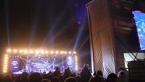 Koncert - punkty lekki kolorowy zdjęcie wideo
